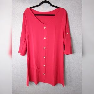 For Bundle Only: Red Button Down Tunic/ Dress
